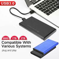PORTABLE 2.5INCH  1TB 2TB HDD USB 3.0 MINI EXTERNAL MOBILE HARD DISK DRIVE WELL
