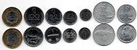 Comoros - set 7 coins 2 5 10 25 50 100 250 Francs 1964 - 2013 aUNC Lemberg-Zp