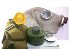 Size-0.Dark stripes Soviet Russian Military Gas mask GP-5.Grey rubber.Full set.