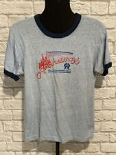 New listing Vintage 1986 Screen Stars Made In Usa Grunge Anaheim Ringer Shirt Sz S/M 50/50