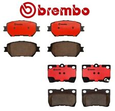 For Lexus GS300 IS250 Front & Rear Premium NAO Ceramic Brake Pad Set Kit Brembo