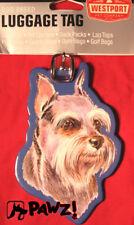 Schnauzer Dog Suit Case Back Pack Bag Luggage Tag
