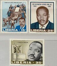 LIBERIA 1968 702-04 480-82 Rev. Dr. Martin Luther King Civil Rights Leader MNH
