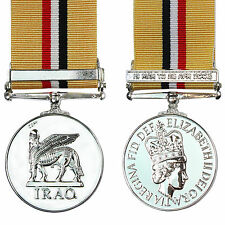 British Army Medal IRAQ OP TELIC with CLASP - FULL SIZE UK Made Operation Award