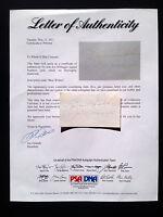 JOE DIMAGGIO Signed Vintage Chevrolet Card Autograph PSA/DNA COA / LOA Auto