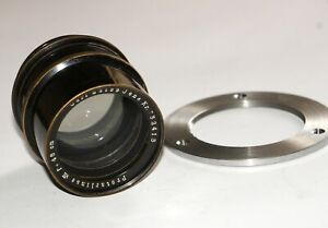 RARE BRASS CARL ZEISS JENA PROTAR VII LARGE FORMAT LENS PATENT COVERS