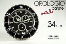 OROLOGIO DA PARETE METALLO 34 CM  QEF-594335