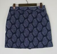 Peter Millar Womens Size 12 Golf Skort Skirt Shorts Navy Paisley NWT No Logo