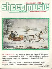 Sheet Music Magazine Dec 1982 Standard Organ Christmas Lerner Loewe Frosty Elisa