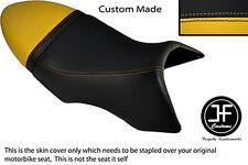 BLACK & YELLOW VINYL CUSTOM FITS BUELL XB 12 SS LIGHTNING LONG DUAL SEAT COVER
