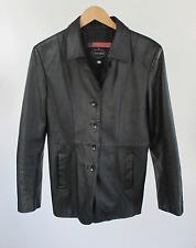 Vintage USA Leather Co. Black Supple Womens Motorcycle Jacket Size M Medium