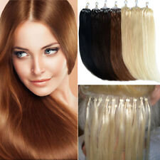 """Easy Loop Micro RingsTip Remy Human Hair Extensions 20"""" 0.5g 1g/s Straight"""