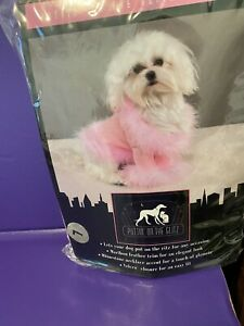 East Side Collection-Puttin on The Glitz Dog sweater/costume Pretty Pink SzL NWT