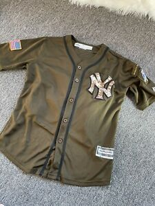 GUC Green Majestic Youth XL Aaron Judge Jersey New York Yankees Military Honor