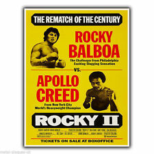 ROCKY II 2 Movie film METAL WALL SIGN PLAQUE poster print Sylvester Stallone