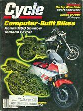 1985 Cycle Magazine: Computer-Built Bikes/Honda 1100 Shadow/Yamaha FZ750/Harley