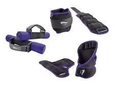 Fitness Gewichteset Gewichte Set 6-teilig lila Fußgelenkgewichte Step Aerobic
