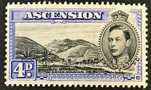 ASCENSION Sc#44b 1944 King George VI Perf:13 Mint V V LH trace VF (O-102)