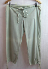 Lee Matthews Size Small or 8 Cotton Khaki Green Loose Crop Trouser