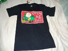 """Charlie Brown """" Open Me First """" """" tee [ small ] New with tags [ 85 ]"""