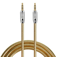 HN- Gold Plated 3.5mm Audio Cable Extension AUX Cord for Speaker Headphones Car
