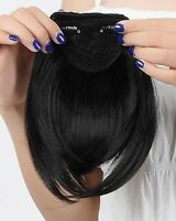UK Deluxe Clip In Front Neat Hair Bang Fringe Hair Extension Straight as Human 8
