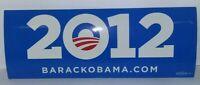Barack Obama 2012 Bumper sticker/ Historical originals in excellent condition!
