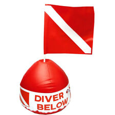 Surface Marker Inflatable Flag Buoy Signal Float Scuba Diving Snorkeling