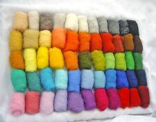 100% natural New Zealand sheep wool for felting, 55 color's set 165 gr / 5.8 oz