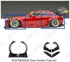 Fiber Glass RB Style Over Fender Flare Kit For 09-12 Mazda RX-8 SE3P Padem
