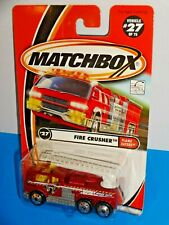Matchbox 2001 Flame Eaters #27 Fire Crusher Red Ladder Fire Truck