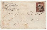 1843 WITTERSHAM PENNY POST MALTESE CROSS UDC PEASMARSH LAMBERHURST Nr4 MARGIN 1d