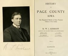 1909 PAGE County Iowa IA, History and Genealogy Ancestry Family Tree DVD B38