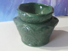Small Lace Green African Violet Ceramic Pot/Planter