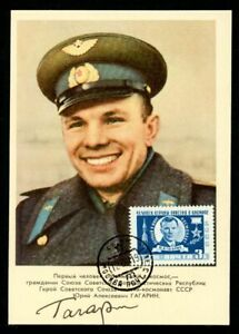 Sowjetunion Autogrammkarte mit Repro-Autogramm Juri Gagarin (1B784