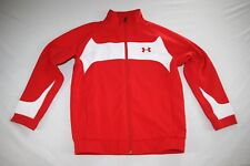 Under Armour Sweat Athletic Jacket Youth L Red NEW