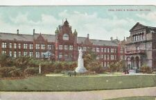 SALFORD - PEEL PARK AND MUSEUM COLOUR  POSTCARD (1908)