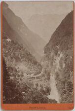 Original 1880s Albumin Kab.Karte PASS LUEG, Salzburg