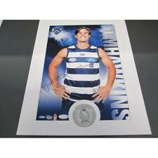 GEELONG CATS TOM HAWKINS AFL SIGNED HERO SHOT PRINT ONLY