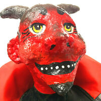 OOAK Hand Made Devil Paper Mache Large Black And Red Cape