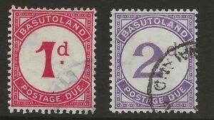 BASUTOLAND  SG D1/D2  1933 POSTAGE DUES  1933   GOOD/FINE USED