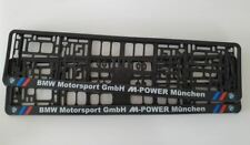 BMW MOTORSPORT M POWER Number Plate Surrounds - Holders - Frames (PAIR)