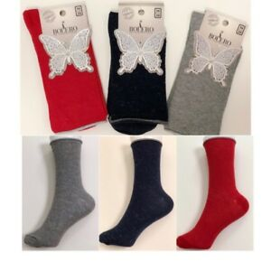 3 Pairs Women Ladies Cotton Metallic Glitter Shimmer Socks  Ankle Loose Socks