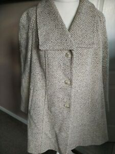 Gorgeous Cotswold Collections Wool Coat Size 20 Tweed Herringbone