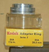 Kodak Series V 28.5mm,1 1/8 inch Slip-On Adapter with Retaining Ring and Holder