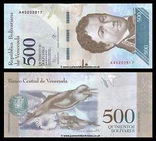 """Venezuela 500 Bolivares 2016 (2017) prima del prefisso """"a"""" P-NEW UNC"""