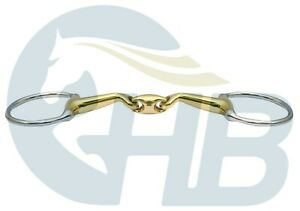 German Silver Verbindend Style Double Jointed Eggbutt Snaffle