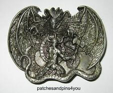 Bergamot T-48 Dragon Slayer Pewter Belt Buckle