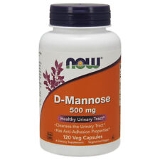 Now Foods D-MANNOSE 500mg - 120 capsules - URINARY HEALTH