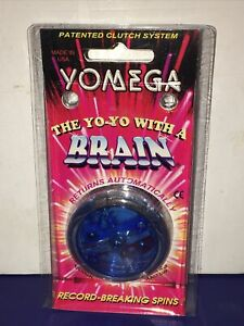 NOS Vintage 1995 Yomega Brain High Performance Yo-Yo In OG Packaging Neon Blue